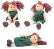 кукла коллажа ручной работы Стоковые Фотографии RF