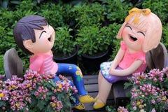 Кукла мальчика и девушки Стоковая Фотография RF