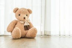 кукла медведя на поле Стоковое фото RF