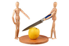 кукла одно divide яблока 2 стоковые фото