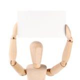 кукла пустой карточки Стоковое фото RF