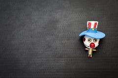 Кукла смешного красочного призрака bozo деревянная стоковое фото rf