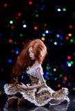 Кукла с шариком рождества Стоковые Изображения