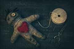 Кукла Voodoo с штырями Стоковое Изображение