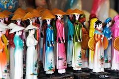 куклы вводят традиционный Вьетнам в моду Стоковое Изображение RF