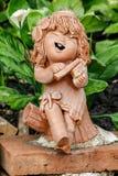 Куклы глины используемые для украшения сада стоковые изображения rf