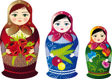куклы русские Стоковое Фото