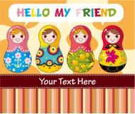 куклы шаржа русские Стоковые Фотографии RF