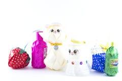 Куклы, handmade игрушки стоковое фото rf