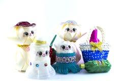 Куклы, handmade игрушки стоковая фотография rf