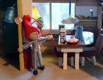 Кукольный дом рождества Стоковое Изображение RF