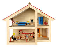 Кукольный дом ребенка с мебелью стоковое изображение rf