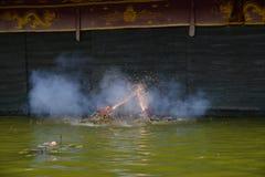 Кукольный театр воды в Ханое Вьетнаме Стоковые Фото