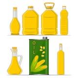 Кукурузное масло бутылки Стоковые Изображения RF