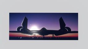 Кукушка SR-71 выбила изображения Стоковые Фотографии RF