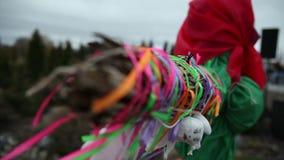 Кукла дальше Shrove вторник сток-видео