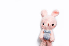 Кукла вязания крючком кролика Стоковые Фото
