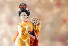 Кукла гейши натюрморта милая японская Стоковые Фотографии RF