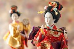 Кукла гейши натюрморта милая японская Стоковое Изображение