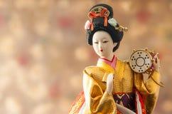 Кукла гейши натюрморта милая японская Стоковое Изображение RF