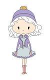 Кукла девушки зимы иллюстрация вектора