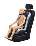 Кукла испытания аварии ребенка стоковая фотография rf