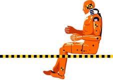 Кукла испытания аварии Стоковое Изображение