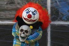 Кукла клоуна убийцы хеллоуина Стоковые Фотографии RF
