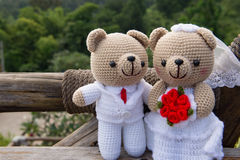 Кукла медведя в влюбленности, Стоковая Фотография
