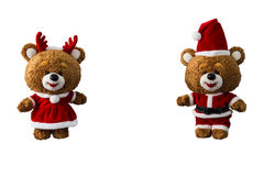 Кукла медведя рождества Стоковые Изображения