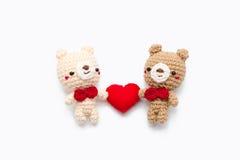 Кукла пар медведя Стоковые Изображения