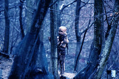 кукла пугающая Стоковое фото RF