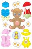Кукла плюшевого медвежонка бумажная Стоковые Фото