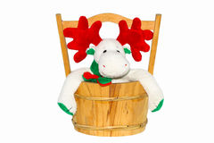 Кукла рождества на белой предпосылке, сувенире рождества - кукле X'MAS изолированной на белой предпосылке Стоковые Изображения