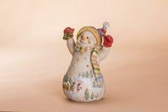Кукла снеговика рождества Стоковое Фото