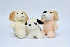 кукла 3 собак на белизне Стоковое Изображение RF