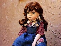 Кукла фарфора Стоковая Фотография