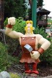 Кукла Fulliautomatix от привлекательности Epidemais Croisiere на парке Asterix, Иль-де-Франс, Франции Стоковое Фото