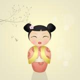 Кукла Kokeshi Стоковое Изображение