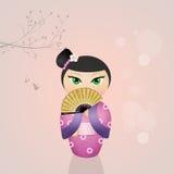 Кукла Kokeshi Стоковая Фотография