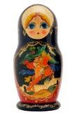 Кукла Matryoshka изолированная на белизне стоковые изображения
