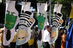 Куклы Бразилия Dilma смертной казни через повешение Стоковая Фотография RF
