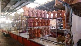 Куклы в пустом рынке Стоковая Фотография RF