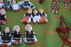 Куклы в румынских национальных костюмах Стоковая Фотография