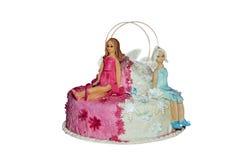 Куклы марципана на торте Стоковая Фотография RF