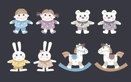 Игрушки для детей иллюстрация вектора
