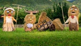 Куклы соломы семьи стоковое изображение