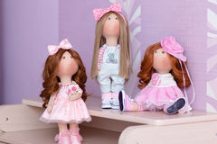 Куклы ткани handmade Стоковые Изображения