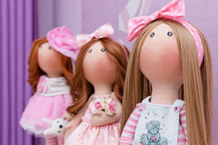 Куклы ткани handmade Стоковое Фото