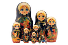 Куклы Matryoshka, изолированные на белизне стоковое изображение rf